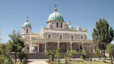 Exterior of the Medhane Alem Cathedral in Addis, Ababa, Ethiopia