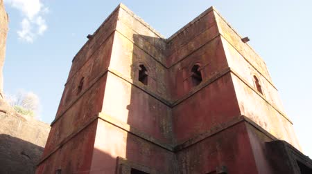Ethiopia, Amhara region, Lalibela, Rock-hewn church of Bet Giorgis 12-13th century, listed as World Heritage by UNESCO
