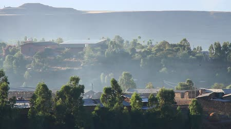 vila : Beautiful Shot of Rural Village early in the morning