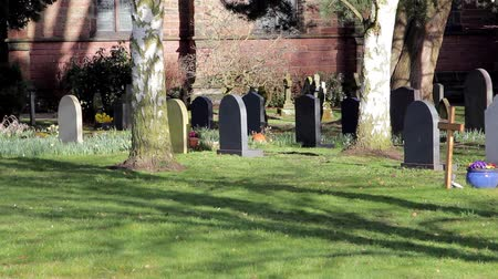 churchyard : Picturesque Church Yard in Morning Light - Squirrels, beautiful flowers & Grave stones - Tree Shadows Rural Setting - English Countryside Nature Walks Backgrounds
