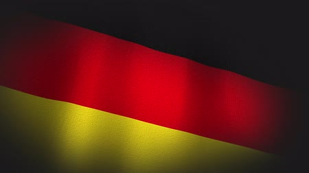 três quarto comprimento : 4K 3D Animation of German Germany Flag Closeup Canvas Texture