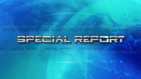 breaking news : Special Report 4K Animation - Lens Flare Reveals Text - Blue
