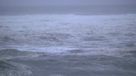 Slow-motion footage of the Ocean on the Oregon Coast filmed on a stormy day.