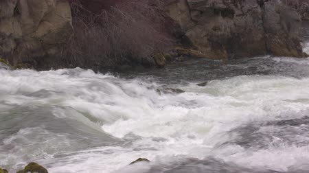 Footage of Benham Falls outside Bend, OR.