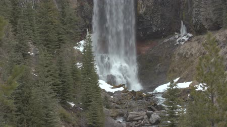 Footage of Tumalo Falls in central Oregon.