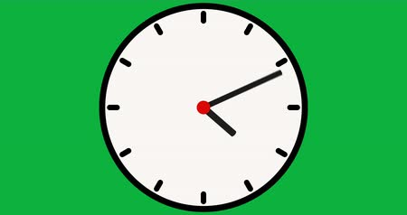 cronômetro : stopwatch animation icon design moving arrows on green screen. clock time lapse. animation clock on a green background. Stock Footage