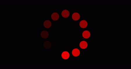 Loading circle red on black background. loading circle icon for your web site design, logo, app, UI. loading sign. download sign. waiting symbol.