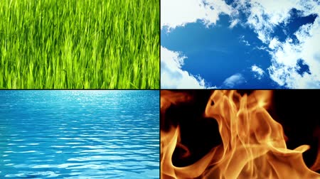 elementler : Earth, Air, Water, Fire - The mystical elements of life in many traditions