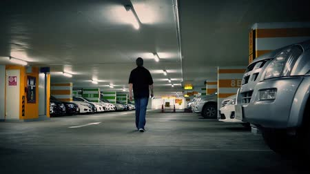 garagem : Man Walks To Car In Parking Garage