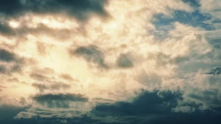 srebro : Dramatic Golden Cloudscape Timelapse Wideo