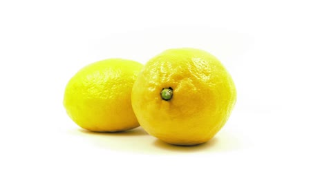 skins : Lemons Rotating On White