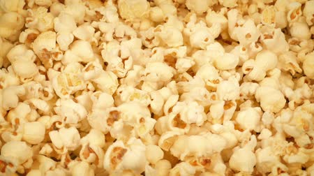 pipoca : Delicious Buttered Popcorn Rotating Stock Footage
