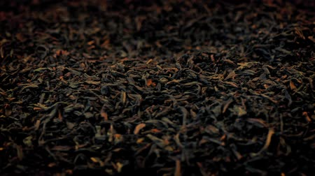 black tea : Tea Leaves Rotating Macro