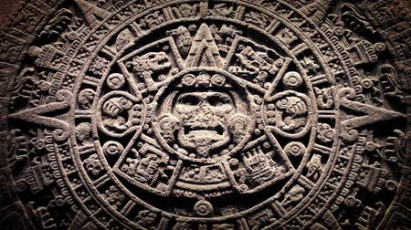 maia : Mayan Stone Seal With Dust Floating Around