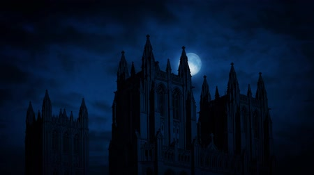 wróżba : Moon Moves Behind Gothic Cathedral