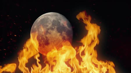 szatan : Moon Passing Behind Raging Fire
