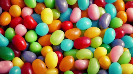 colorful candy : Colorful Candy Beans Rotating Closeup