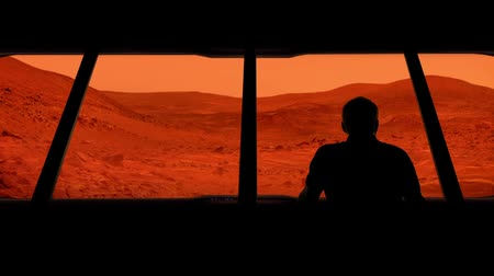 Марс : Astronaut Looks Out At Mars Surface