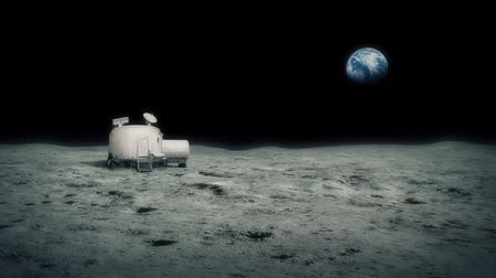 база : Moon Base With Earth In Background
