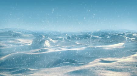 ártico : Arctic Landscape With Snow Falling