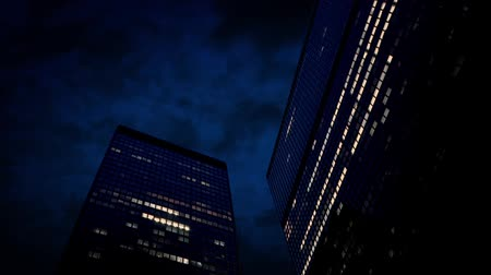 bloklar : Large Office Buildings At Night