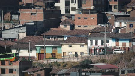 favelas : Road Through Favela On Sunny Day
