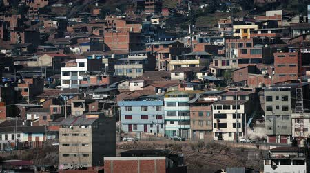 favelas : Residential Area In Developing Country On Sunny Day Stock Footage