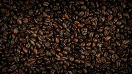 ristretto : Coffee Beans Rotating Overhead Shot