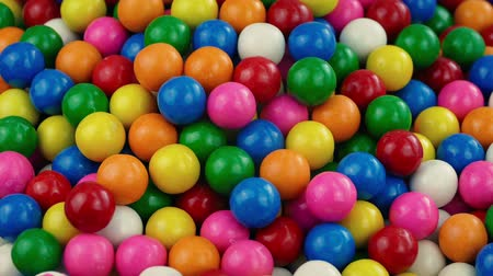 vending machine : Pile Of Candy Gum Balls Stock Footage