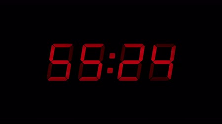 minuto : 60 Second Digital Countdown Display Red 4K