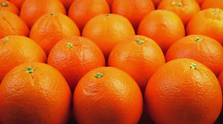 walmart : Rows Of Oranges In Supermarket Stock Footage