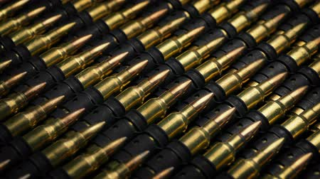 silahlar : Many Rifle Bullets Mass Production Concept Stok Video