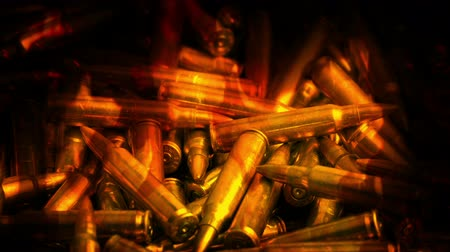 silahlar : Pile Of Bullets In Flames Abstract