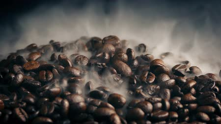 rosto : Pile Of Coffee Beans Roasting