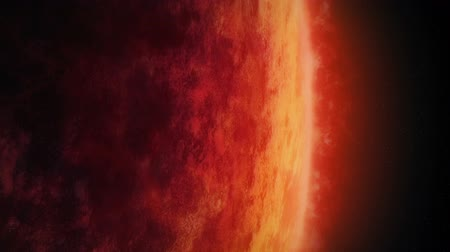 raging : Huge Red Planet With Raging Atmosphere