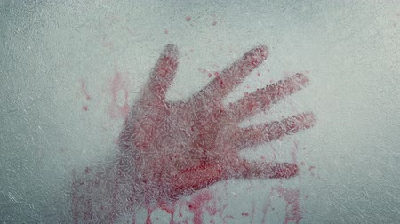 csi : Bloody Hand Frozen In Ice Stock Footage