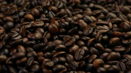 packet : Passing Roasted Coffee Beans Stock Footage