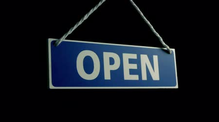 metaphors : Passing Open Sign Closeup