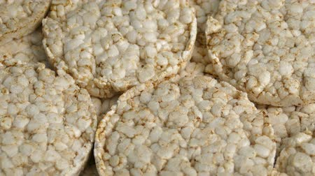 rice cake : Rice Cakes Rotating On Plate Stock Footage