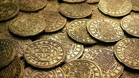doubloon : Moving Over Pile Of Gold Coins