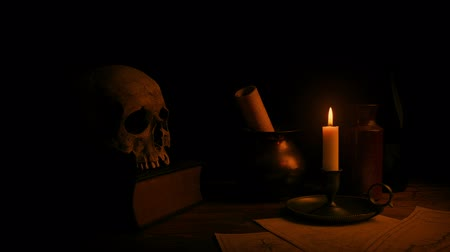 old times : Candle Lights Desk - Historical Setting