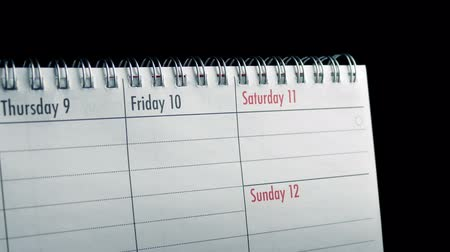 diary : Passing Calendar Days Closeup Stock Footage