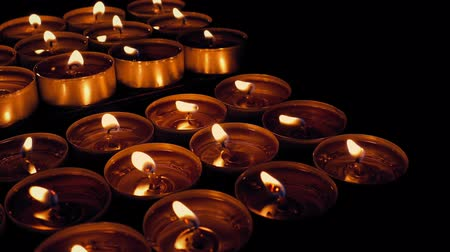 eucharystia : Moving Past Religious Candles Display Wideo