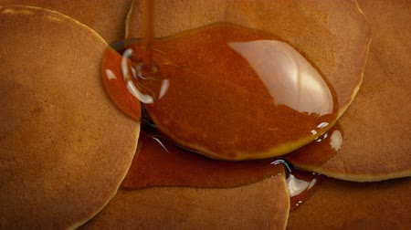 nalesniki : Syrup Pouring On Breakfast Pancakes