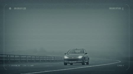 passar : CCTV Misty Highway With Cars Passing Stock Footage