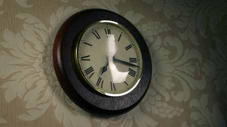 unknown : Reflection Of Person Passing Clock On Wall