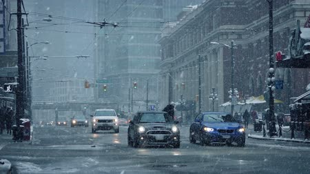 snows : Downtown City Road In Snowfall