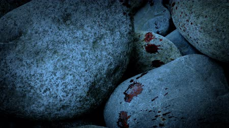 cákanec : Blood Spatters On Rocks In The Evening