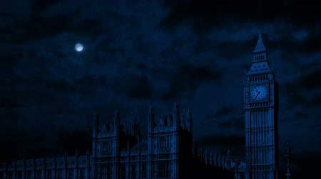 английский парк : Big Ben And Houses Of Parliament At Night