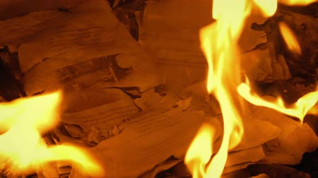 dom : Remains Of Pages Burned Up In Fire - Generic Content